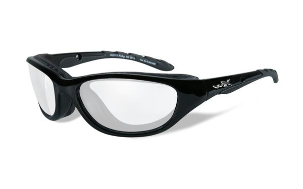 WX Airrage - Gloss Black, Clear Lenses 100 61-18