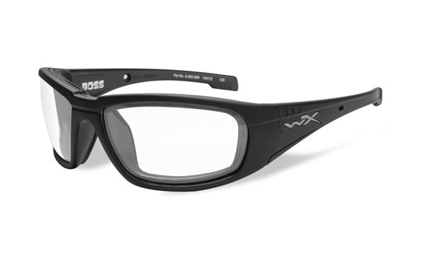 WX Boss - Matte Black, Clear Lenses 100 68-18