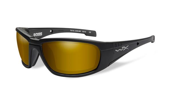 WX Boss - Matte Black, Polarized Venice Gold Mirror (Amber) Lenses 150 68-18