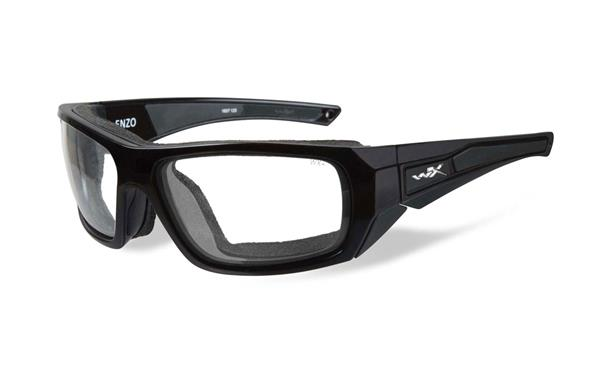 WX Enzo Glass Blk, Clear Lenses CCENZ03