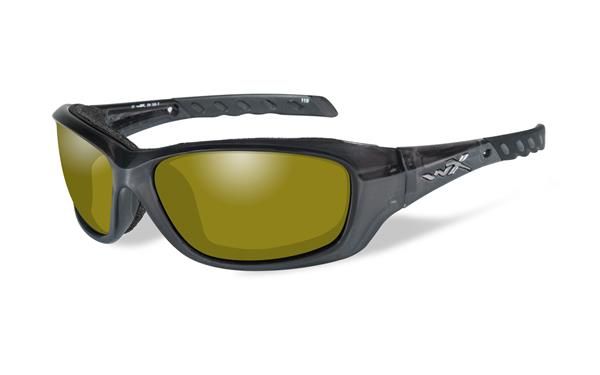 WX Gravity Black Crystal, Polarized Yellow Lenses
