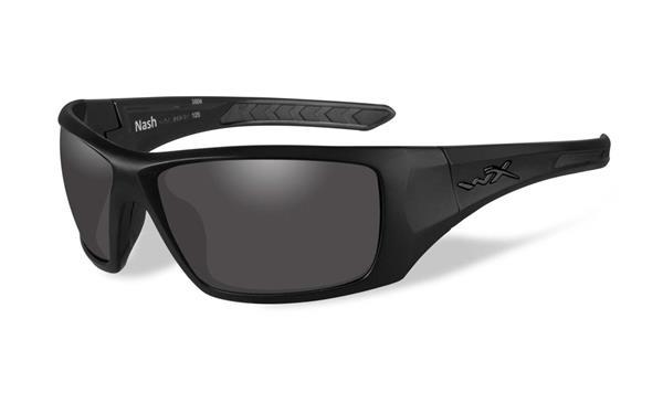 WX Nash - Matte Black, Polarized Smoke Grey Lenses 64-15 130