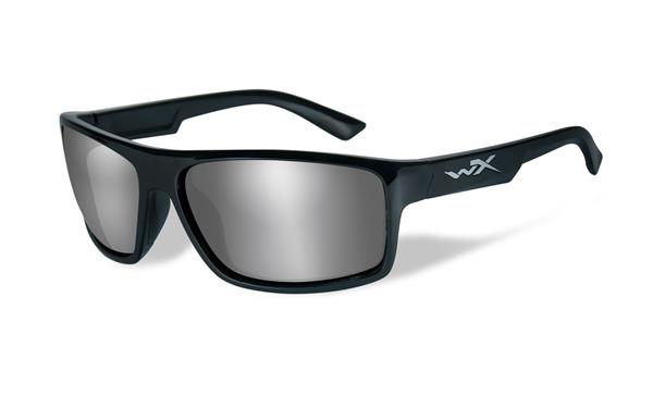 WX Peak - Gloss Black, Silver Flash Mirror (Smoke Grey) Lenses 80 65-15