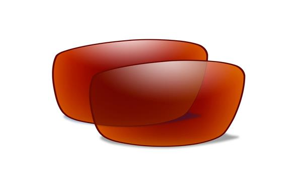 WX Polarized Crimson Mirror Lenses 76