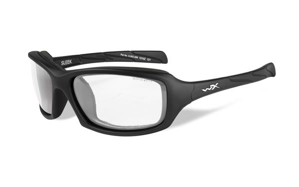 WX Sleek - Matte Black, Clear Lenses 100