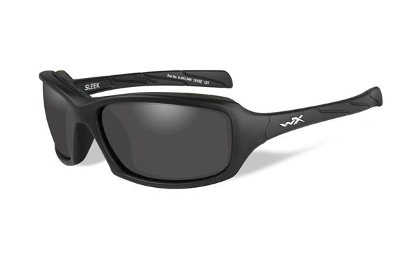 WX Sleek - Matte Black, Smoke Grey Lenses 100