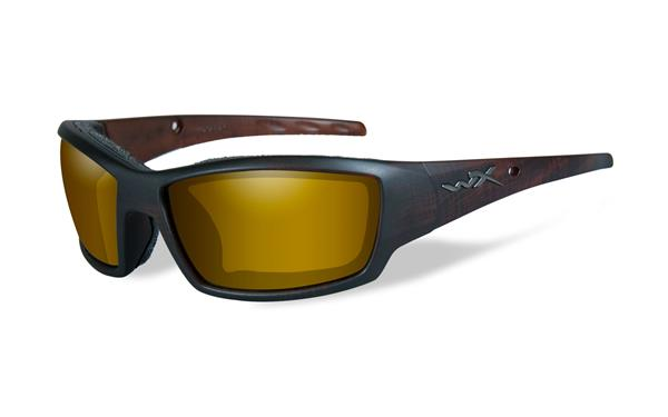 WX Tide -Matte Hickory Brown, Polarized Venice Gold Mirror (Amber) Lenses